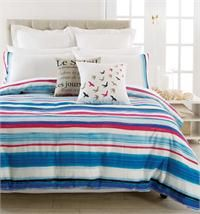 Pillow Talk:Aspire Painterly Stripe example for 'boy bedroom' Crime, Time Shop, Large Homes, Pillow Talk, Quilt Cover, Bed Spreads, Linen Bedding, Comforters, Blanket