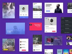 A few of the modern and eye candy elements that are present in Exeo UI Kit