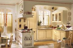 Really cute design for a small kitchen space!