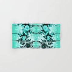 Winter magic in soft blue Hand & Bath Towel