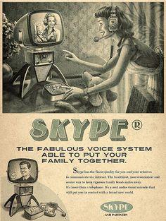 Vintage Representation of Popular Online Brands