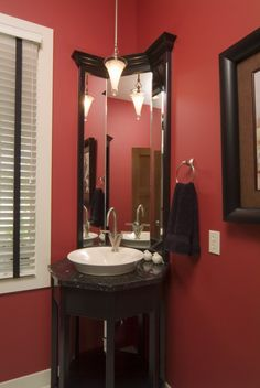 cool idea for a small bathroom!