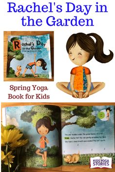 Award-winning Rachel's Day in the Garden: Spring Yoga Book for Kids - Join Rachel as she and her adorable puppy look for signs of spring in the garden. Crawl like a caterpillar, buzz like a bee, and flutter like a butterfly. Discover spring, explore movement, and learn the colors of the rainbow! Ages 3+. | Kids Yoga Stories