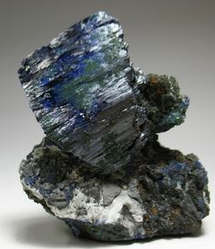 Azurite Crystals from the Tsumeb Mine