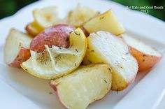 Hot Eats and Cool Reads: Roasted Lemons and Dill Potatoes Recipe