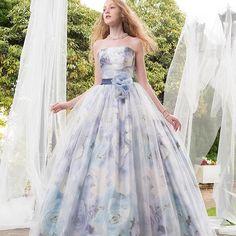#promdress #dress #flowerdress #ウエディングドレス#カラードレス#ドレス #プレ花嫁 #花嫁#カクテルドレス #きれい #プリント#水彩画#kiyokohata #キヨコハタ