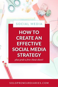 Is social media part of your digital marketing strategy? Click through for tips on how to to create your social media marketing strategy and grab a free printable planning guide! #Business #SocialMedia #SocialMediaMarketing