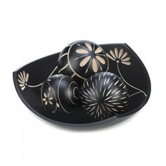 Accent Plus Artisan Tri-Point Bowl Decorative Balls