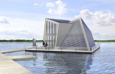 German scientists design state-of-the-art floating home for Europe's largest artificial lake district