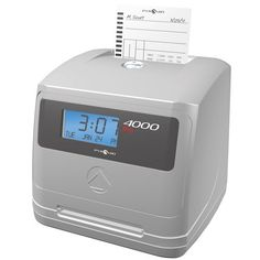 The Pyramid Technologies PTI 4000 Electronic Time Clock is a fast payroll processing system that accommodates up to 100 employees. The PTI 4000 eliminates errors by automatically calculating time totals for weekly, bi-weekly, semi-monthly, or monthly payrolls, and features auto top card feed and alignment for improved accuracy.