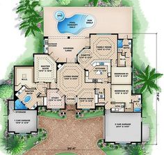 Find your dream french-country style house plan such as Plan which is a 3242 sq ft, 3 bed, 3 bath home with 3 garage stalls from Monster House Plans. Country Style House Plans, Country Style Homes, Dream House Plans, House Floor Plans, Dream Houses, Luxury Houses, French Country Bedrooms, French Country House, European House
