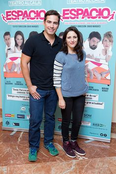 LR Alejandro Tous and Ruth Nunez attend the 'Espacio' premiere at 'Nuevo Alcala' theatre on September 16 2015 in Madrid Spain