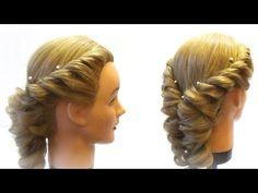 Прическа с плетением на средние волосы Braiding for medium hair - YouTube