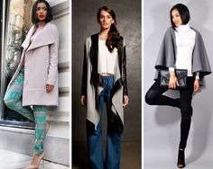 Must-have coats, capes and cardigans for the chilly season. Spring Dresses, Short Dresses, Spring Fashion, Winter Fashion, Jacket Dress, Capes, Must Haves, Cardigans, Duster Coat