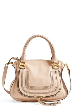Head over heels for this blush nude Chloé satchel!