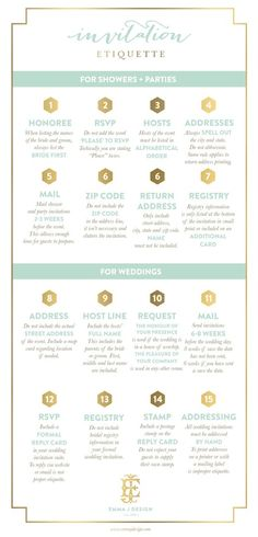 Over the years, I have assisted party hostesses, brides and wedding planners with invitation etiquette and wording. In order to spread the word about invitation etiquette, I have created this handy… Before Wedding, Wedding Tips, Wedding Events, Our Wedding, Wedding Photos, Dream Wedding, Weddings, Wedding Blog, Wedding Timeline