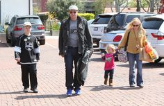 Jaime Bergman 'Bones' actor David Boreanaz and wife Jaime Bergman out shopping with their kids Jaden and Bardot in Malibu, Calfornia on March 24, 2012.