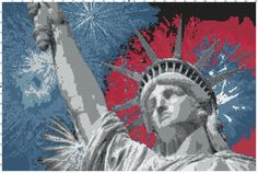 Lady Liberty Indepedence Day Blanket Pattern by Altascrafts