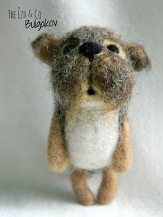 Bulgakov. Needle felted dog
