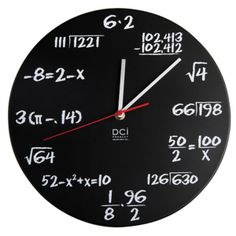 Math Wiz Clock - Geekery Gift for Math & Science Student! $37.50