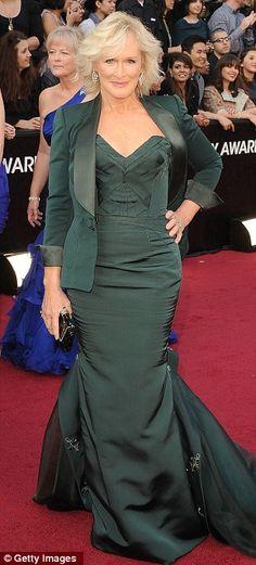 Glenn Close rocks this look // Oscars 2012