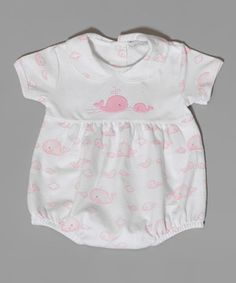 This White & Pink Whale Bubble Bodysuit - Infant by Hug Me First is perfect! #zulilyfinds