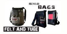 Recycled Felt & Tube Bag and Rucksack