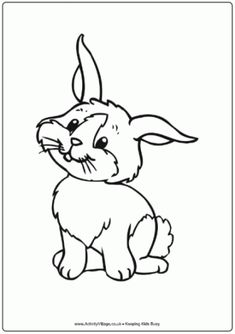 Rabbit Colouring Page 3