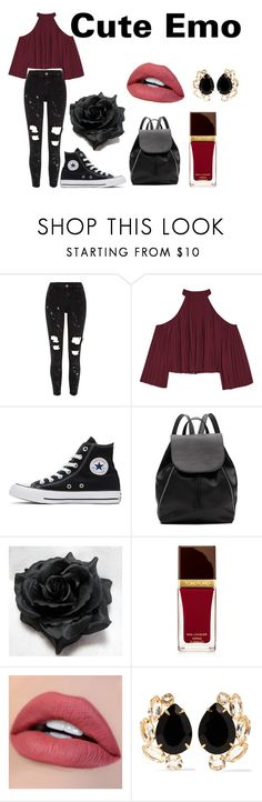 """""""Cute Emo"""" by fnaf4lyfe on Polyvore featuring River Island, W118 by Walter Baker, Converse, Witchery, Tom Ford and Bounkit"""