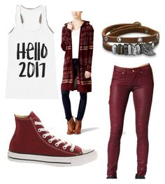 """""""Dia King"""" by aarabbit44 on Polyvore featuring Hooked Up by IOT, BillyTheTree, Paige Denim and Converse"""