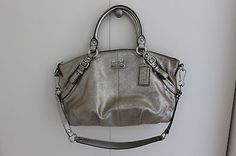 Coach Madison Metallic Silver Satchel