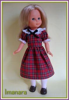 Mi nancy con replica del vestido escocés