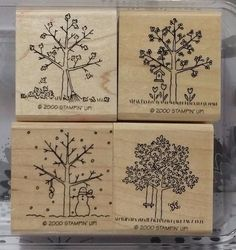 Stampin' Up! Retired A TREE FOR ALL SEASONS WM Stamps Changing Bare Branches in Crafts, Stamping & Embossing, Stamps | eBay
