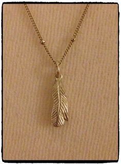 Fine silver clay feather