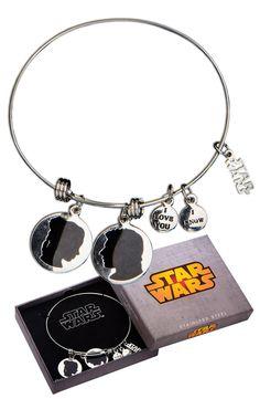 Han Solo and Leia Expandable Charm Bracelet