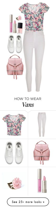 """Pink and White"" by dazzling-dazed-dayz on Polyvore featuring River Island, Grayson, Vans, NARS Cosmetics and Ilia"