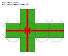 Minecraft present (eather) printable