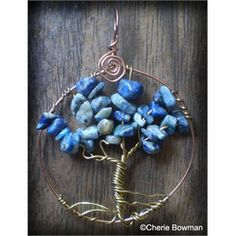 Sodalite Tree of life Tree Of Life Pendant, Rocks And Minerals, Turquoise Necklace, Jewelry Design, Jewelry Making, Just For You, Diy Crafts, Pendant Necklace, Beads