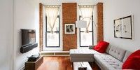 Weekend Project: Build a False TV Wall | Love those brick walls!