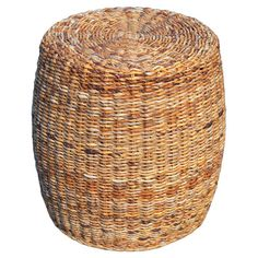 Woven abaca stool with a natural finish.  Product: StoolConstruction Material: Abaca woodColor: ...