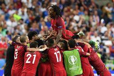 Schließlich war die Sache perfekt: Nach 120 Minuten stand es 1:0 für Portugal....