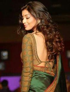 Gold long sleeved saree blouse