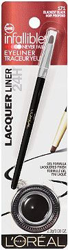 L'Oréal Infallible Lacquer Liner 24H for eye design that is simply sophisticated. 24 hours of flawless, fade-free color with a unique lacquered finish.