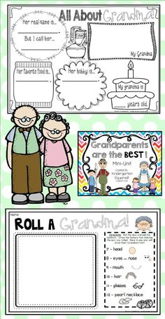 Grandparent's Day Mini-Unit: Grandparents Are the Best! - - Grandparent's Day Mini-Unit: Grandparents Are the Best! Grandparents Day Activities, Grandparents Day Cards, National Grandparents Day, Kindergarten, Grands Parents, Fathers Day Crafts, Grandparent Gifts, Grandma Gifts, Book Gifts
