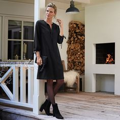 bcceac95be6 The White Company Tie Neck Dress Black Size UK 16 rrp 149.00 SA172 OO 05   fashion  clothing  shoes  accessories  womensclothing  dresses (ebay link)
