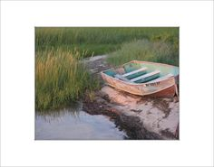 Row Boat at Magic Hour Fine Art Photography Print by LifeisBalance, $35.00