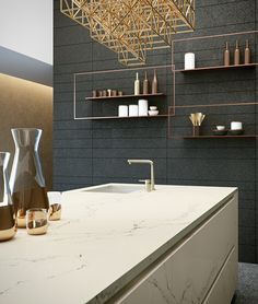 Statuario Nuvo 5111 http://www.caesarstone.sg/en/NewsAndEvents/articles/Pages/New-2015-Marble-Inspired-Designs-Statuario-Nuvo.aspx