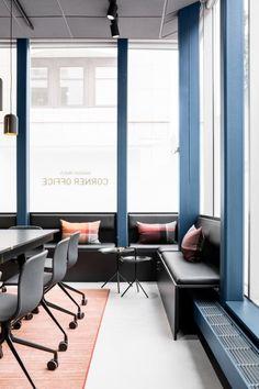 블루컬러의 창업 에이전시 사무실인테리어 : 네이버 블로그 Corner Office, Conference Room, Table, Furniture, Home Decor, Offices, House, Decoration Home, Desk Nook