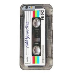 Funny Vintage 80s Retro Music Cassette Tape Barely There iPhone 6 Case #iphone #iphone6 #retro