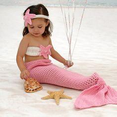 CROCHET PATTERN. Mermaid Outfit Crochet Pattern. by AdairToCrochet